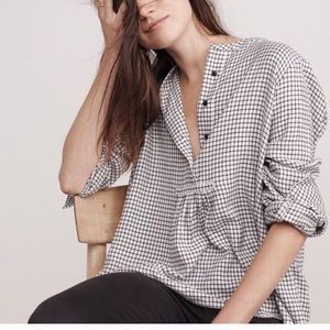 White flannel Madewell blouse